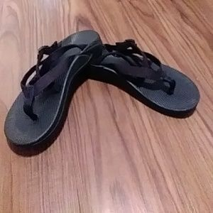 Woman's CHACO Black Sport Sandals SIZE 11